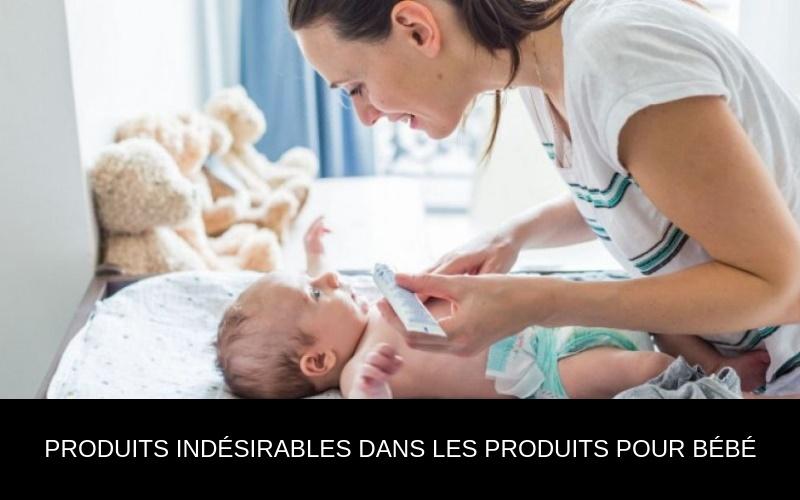 Trop de produits à risque dans les articles cosmétiques pour bébés et adultes.
