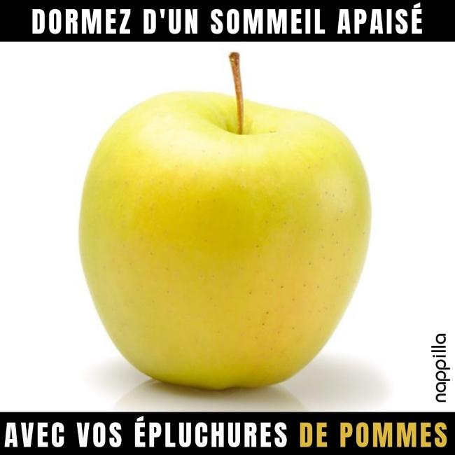 Les épluchures de pommes, très utiles pour dormir, encore un déchet valorisé !