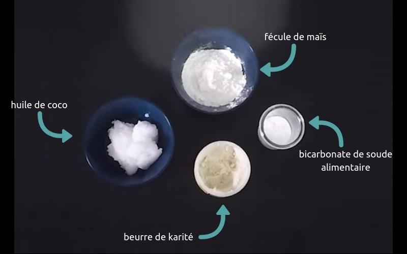Les ingrédients pour faire votre déodorant écologique