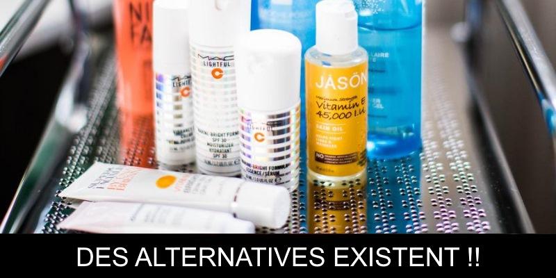 Des alternatives existent aux produits de soins dans la salle de bain
