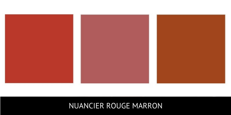 Nuance rouge marron