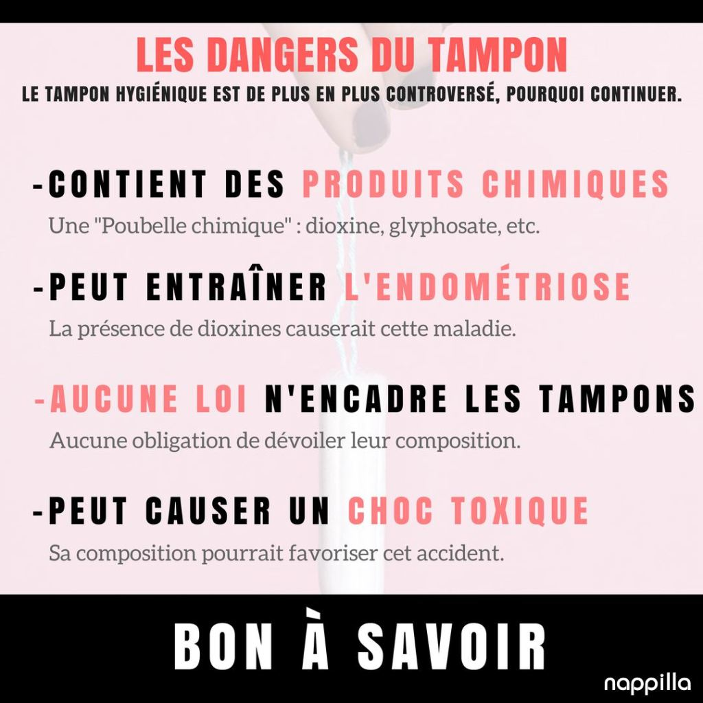 Les dangers du tampon nappilla Luxembourg