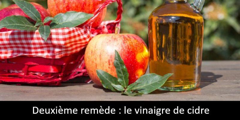 Deuxième remède le vinaigre de cidre