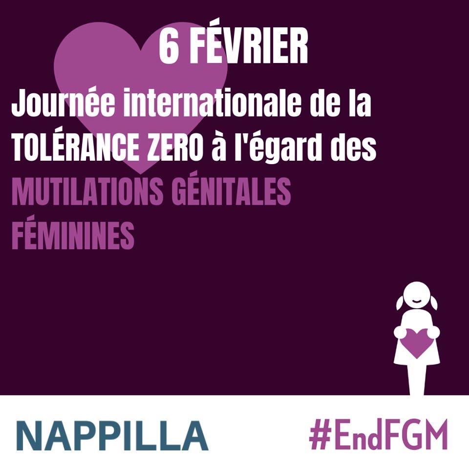 Aujourd'hui 6 février, Journée internationale de TOLÉRANCE ZÉRO à l'égard des mutilations génitales féminines (MGF).