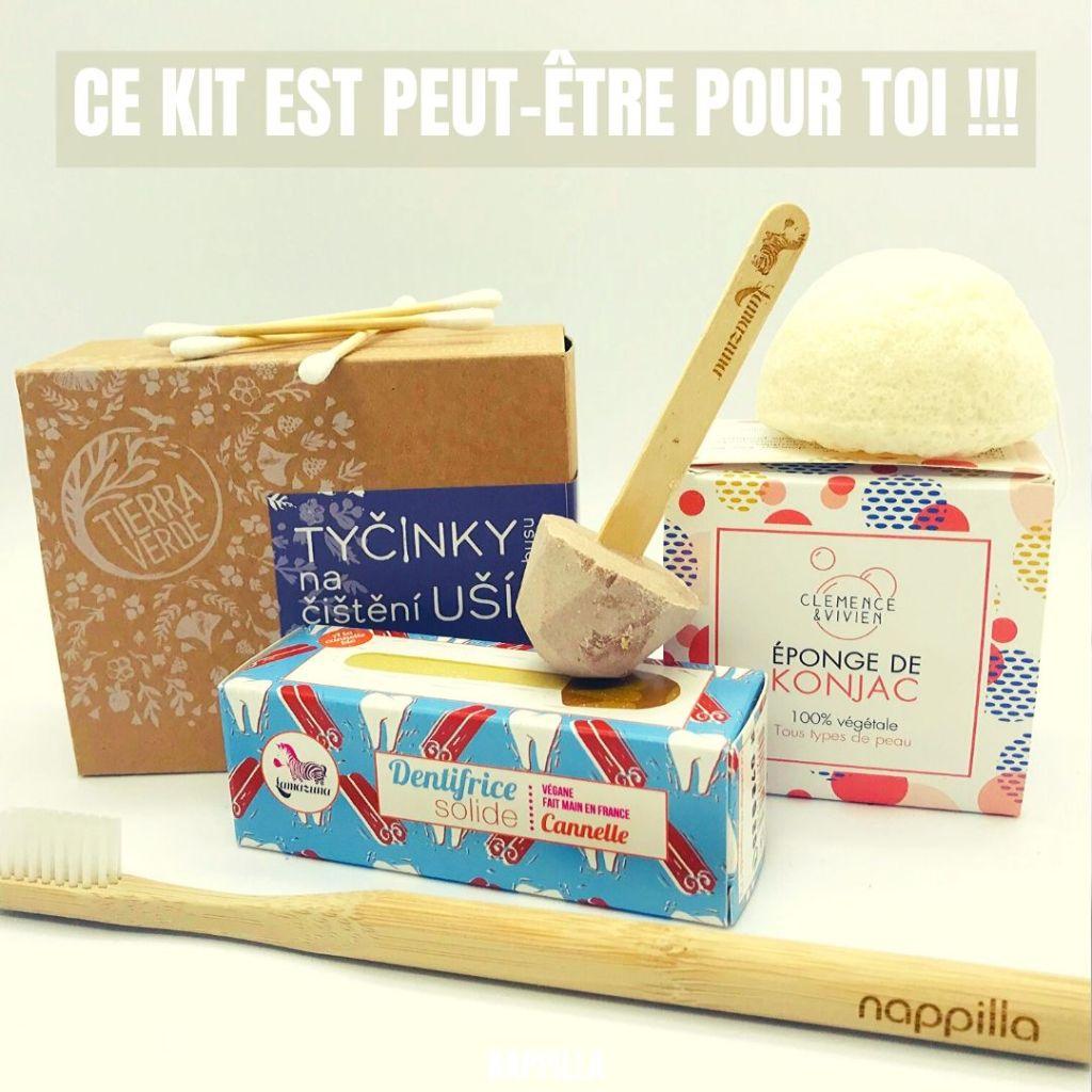 Un kit salle de bain presque zéro déchet - Nappilla