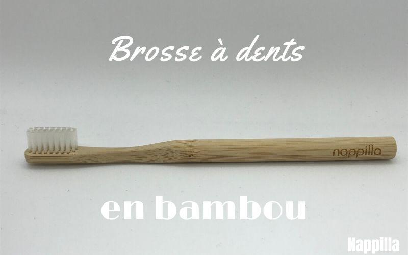 Brosse à dents en bambou fabriquée par j'aime mes dents et distribuée par Nappilla - Luxembourg