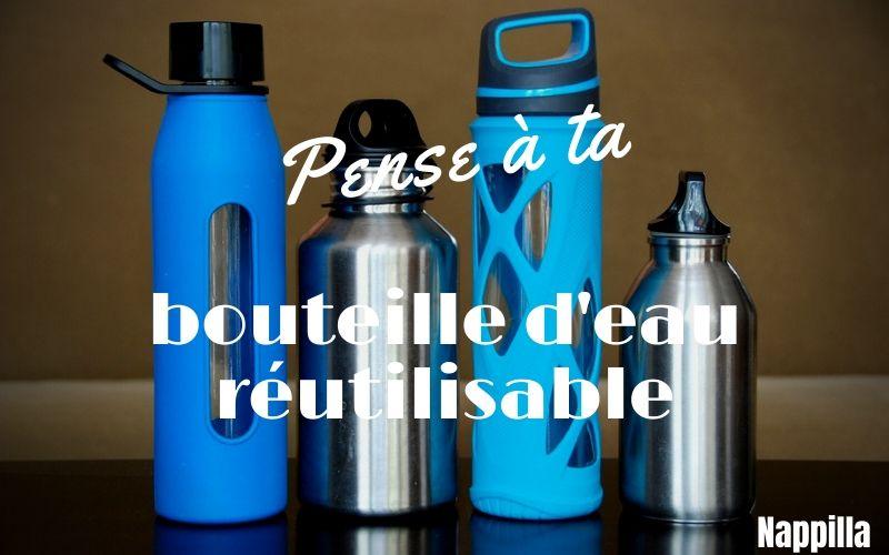 Remplace ta bouteille d'eau en plastique contre des bouteilles d'eau réutilisables - gourde - Nappilla