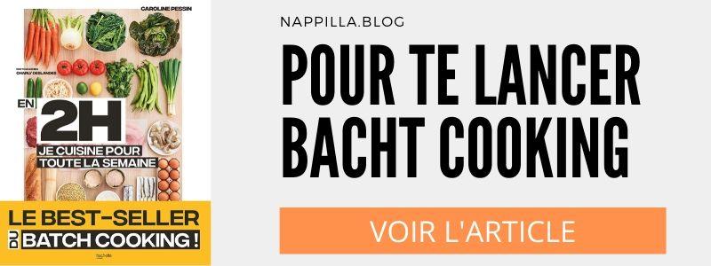 Je cuisine pour toute la semaine Batch Cooking- Nappilla -  Luxembourg