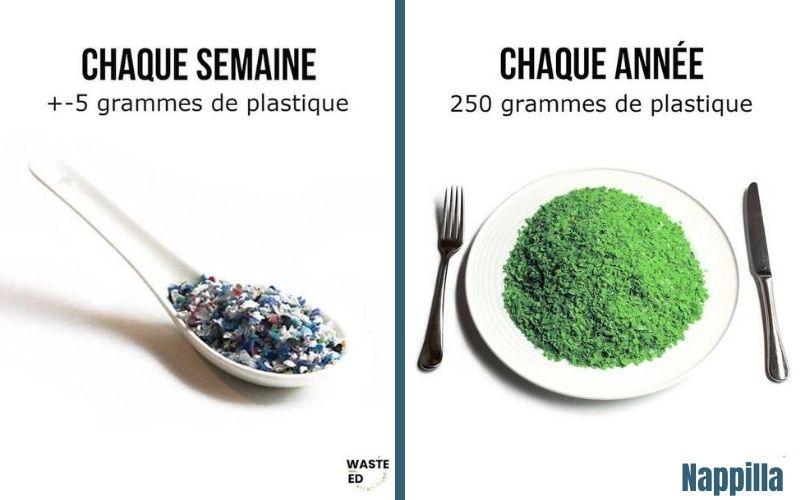 infographie waste ed plastique chaque jour chaque mois chaque année - blog nappilla Luxembourg